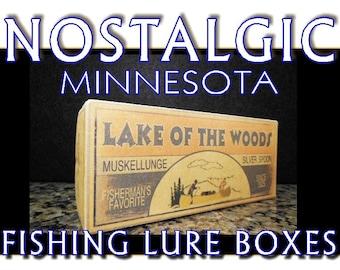 Mille Lacs lake house fishing decor nostalgic fishing lure boxes 4YourLake