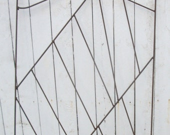 "Rustic Garden Gate w Uniquely Steel Rod Cross Pattern 86"" x 36"" - Local Pickup or Maybe Personal Delivery (50 % DISCOUNT APPLIED)"