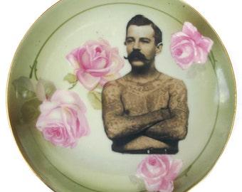 """The Tattooed Man Portrait Plate 6.4"""""""