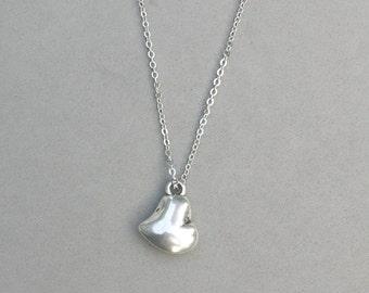 Antique Silver Heart Necklace