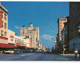 Central Avenue St Petersburg Florida 1960s postcard