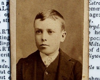 Mini CDV Photo Card - Minneapolis Young Boy