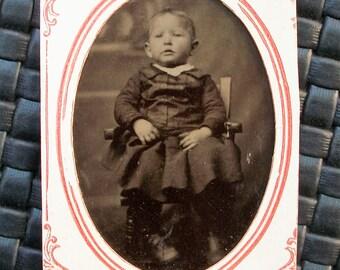 Tintype - Pleats on the Child