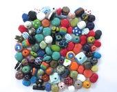 Kazuri Beads, 100 Kazuri Beads, Rainbow Coloured Ceramic Beads, Kazuri African Beads No 297