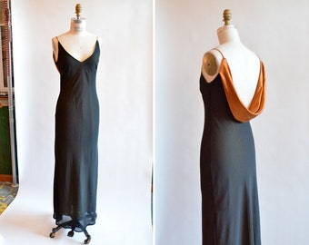 Vintage 1990s BACKLESS evening gown
