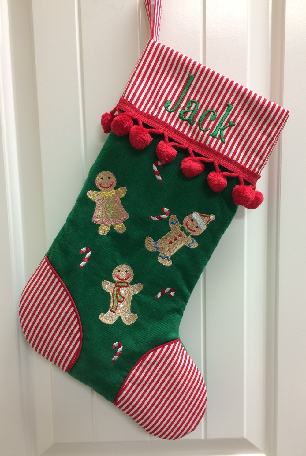 Personalized christmas stocking family christmas stockings for Custom made christmas stockings