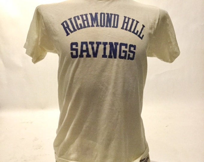 Vintage Richmond Hill Saving Screen Stars Funky A 80's Tee Shirt (OS-TS-63)