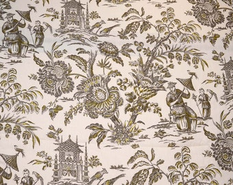 Asian Arcadia Sepia Waverly Fabric