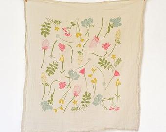 Western Region Wildflowers Towel : Flour Sack Kitchen Tea Towel