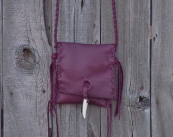 Soft leather crossbody phone bag , Soft leather purse , Burgundy handbag
