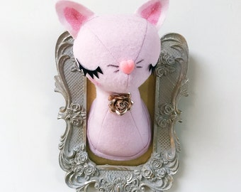Small Cat Faux Taxidermy