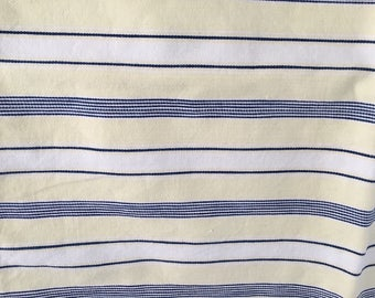 Vintage striped pillow ticking cover, yellow blue stripe