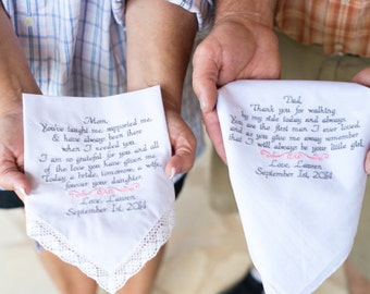 Best Wedding Gifts For Mother Of The Bride : Wedding Handkerchiefs Gifts Mother of the Bride & Father of the Bride ...