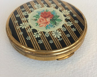 Vintage Powder Compact with Mirror