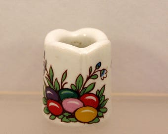 Miniature Easter Taper Candle Holder Porcelain West Germany