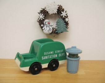 Vintage Fisher Price Sesame Street Oscar and Truck