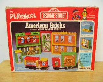 Vintage Playskool Sesame Street Set - American Bricks
