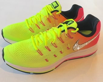 Bling Nike Shoes with Swarovski Crystals * Nike Air Zoom Pegasus 33 OC  Olympic 2016 Bedazzled