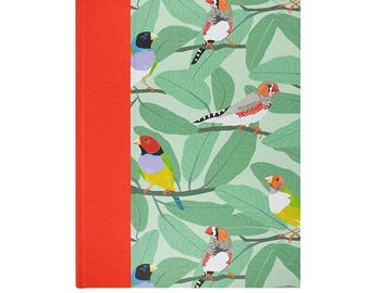 Baby  Keepsake Memory Book Finches