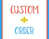 Custom Order for Tiffin