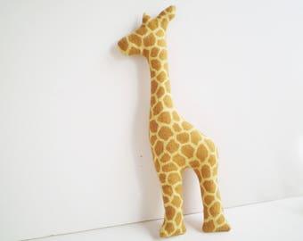 Stuffed Giraffe Toy, Giraffe Toy, Flannel Giraffe Toy, Baby Giraffe Toy, Child's Giraffe Toy