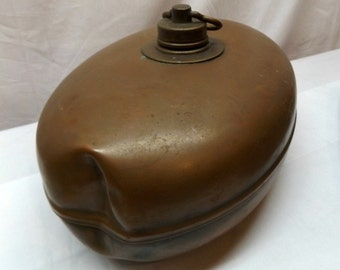 Antique Reinkuprer Spezial Copper Bed-Warmer-Made in Germany-Hefty