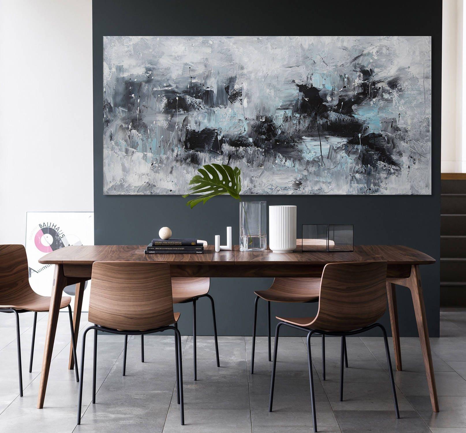 Extra Large Abstract Painting Horizontal Minimalist Wall Art