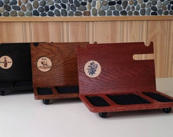 iphone docking station personalized with many themes to choose gift for him or her desk organizer