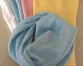 Cotton hair towel/ hair wrap/ hooded towel  (blue)