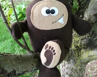Funny Stuffed Animal gift for kids, Big Foot, soft stuffed monster, Sasquatch, Big Foot Stuffed Toy, Big Foot Plushie, Stuffed Toy Monster