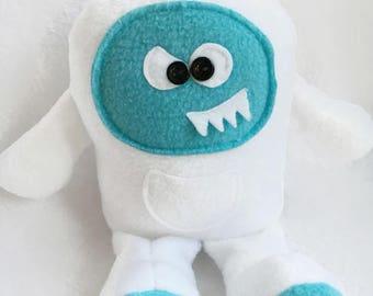 Soft Monster Plush, Yeti Stuffed Toy, Yeti, Funny Plush Gift For Boys, Monster Plush, Abominable Snowman, Tooth Fairy pillow, Yeti Doll