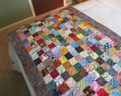 Quilted Scrappy Bed Runner, for Queen Size, 64 x 23 inches