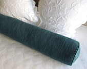 8x54  bolster pillow includes insert, teal blues