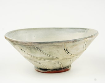 Bowl with Black Swirling Stripes