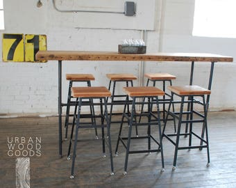 Reclaimed wood barstool in choice of finishes