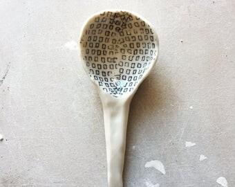 Ceramic Spoon with Squares