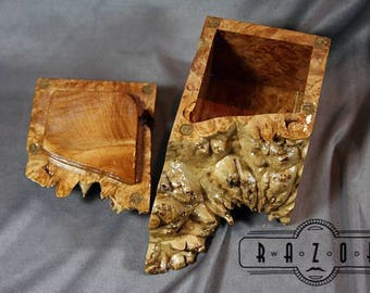 Engagement Ring Box Birds eye Maple Burl Jewelry Box Birthday Gift Ring Box Keepsake Box Wood Fifth 5th Anniversary Mother's Father's Day