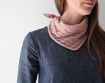 Knitting Pattern, Bandana style scarf, DIY bandana, scarf, kerchief,