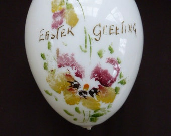 LargeVictorian blown glass Easter Egg #2