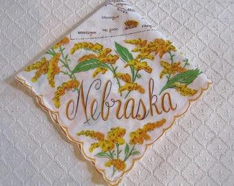FREE SHIPPING * Vintage Nebraska Handkerchief