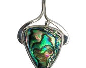 Abalone Shell and Sterling Silver Pendant, pablf2741