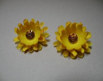 Jonquil Rhinestone & Vintage Plastic Earrings