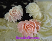 34-00-CA   High Quality Cabbage Rose.Snow White, Baby Pink,Deep Pink