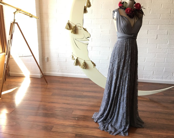 Grey Gardens Lace- Vintage Style Octopus Infinity Wrap Dress- Wedding Gown, Bridesmaids, Maternity, Etc.