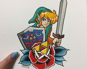 Link and Triforce Print