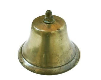 Vintage Ship Bell made of Brass  (c.1960's) for Nautical Coastal Beach or Cottage Decor