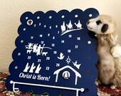 Journey to Bethlehem Christmas Advent Calendar Magnetic Board