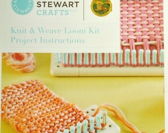Knitting Loom, Weaving Loom, Round Loom, Martha Stewart Knit & Weave Loom, Martha Stewart Crafts, Instructions, Kids Crafts, Fiber Crafts,