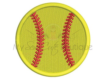 Softball Embroidery Designs - Baseball Sports Machine Monogram - 19 Sizes - Instant Download