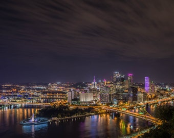 Pittsburgh from Mt Washington, Pittsburgh Skyline, Pittsburgh Art, Fine Art Color Photography, Pittsburgh decor